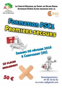 Affiche PSC1 Chaponnay